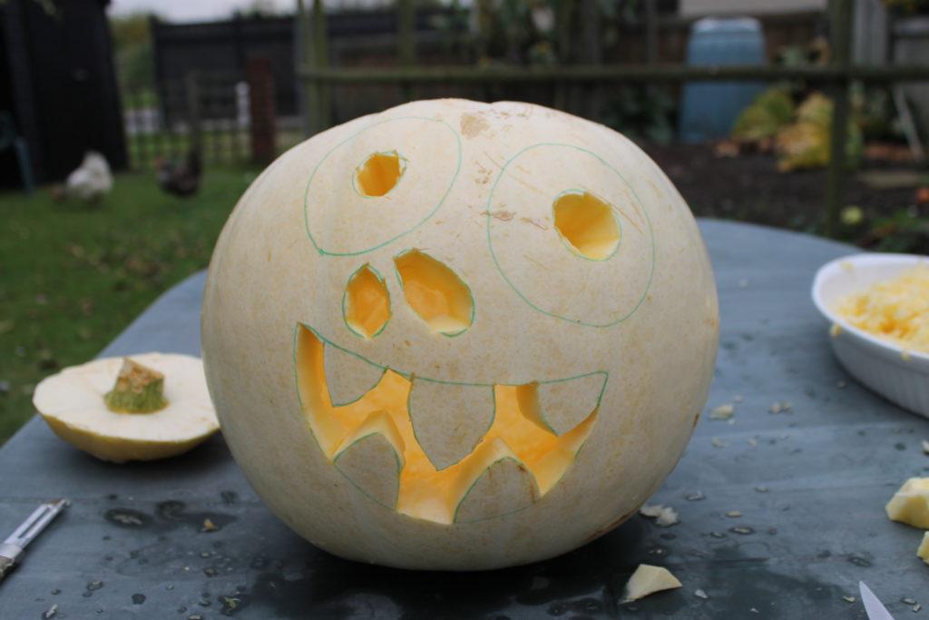 Funny Pumpkin Face Halloween Pumpkin Guide by Immortal Wordsmith