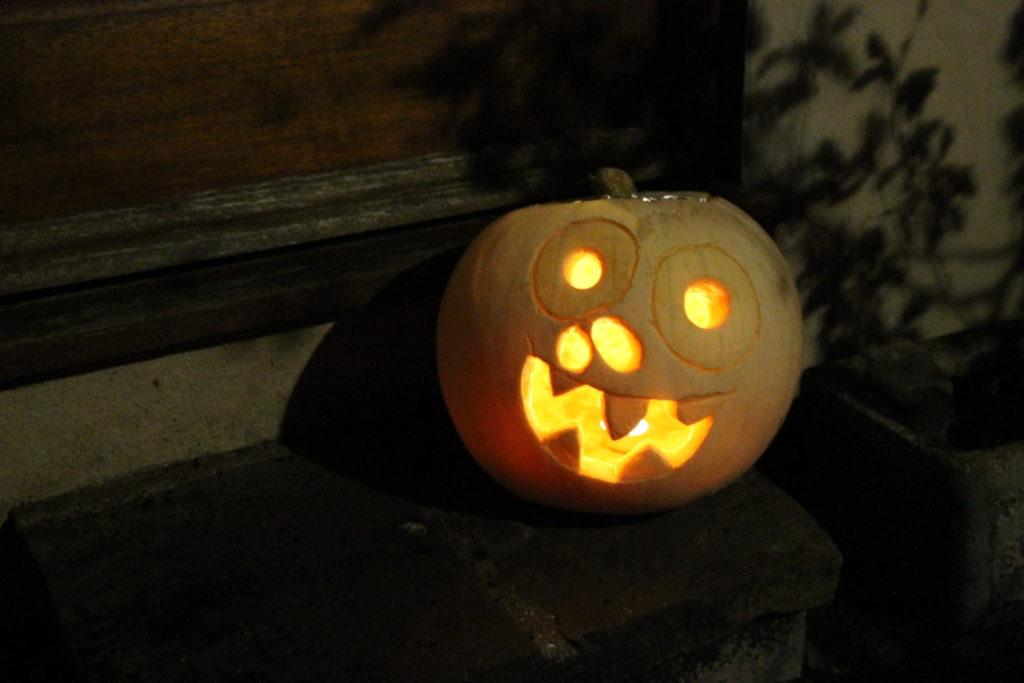 Spooky Pumpkin Design Doorstep Halloween Pumpkin Guide by Immortal Wordsmith