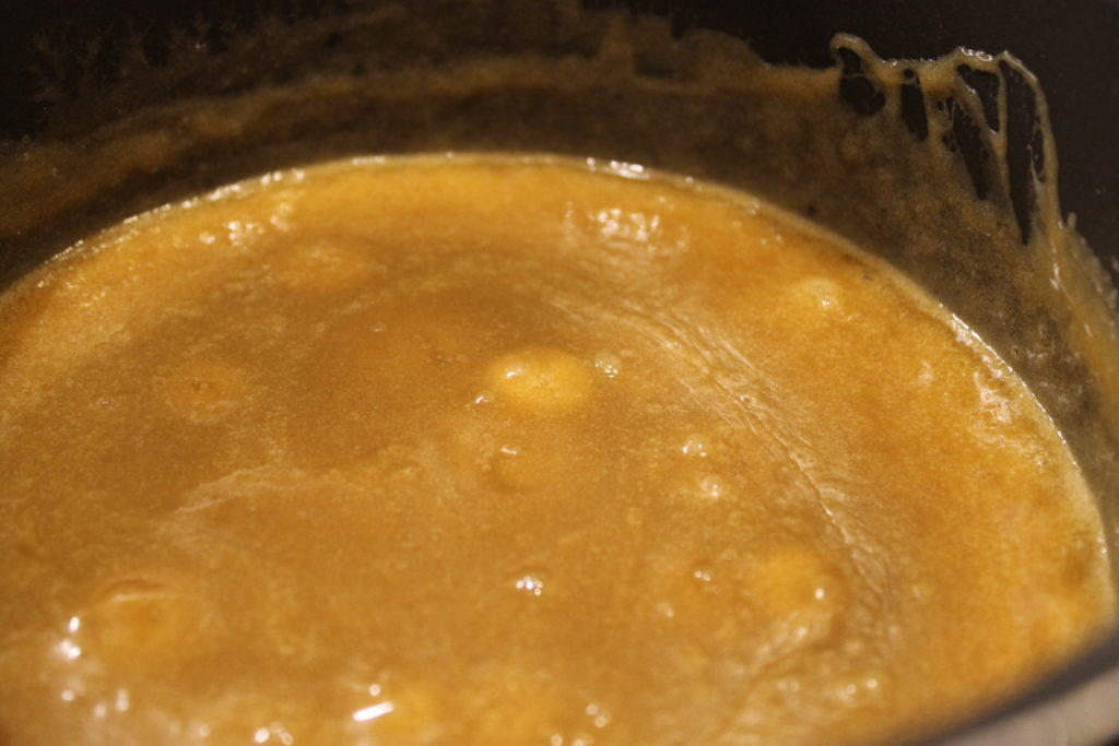 Bubbling Salted Caramel Sauce in Saucepan | Immortal Wordsmith