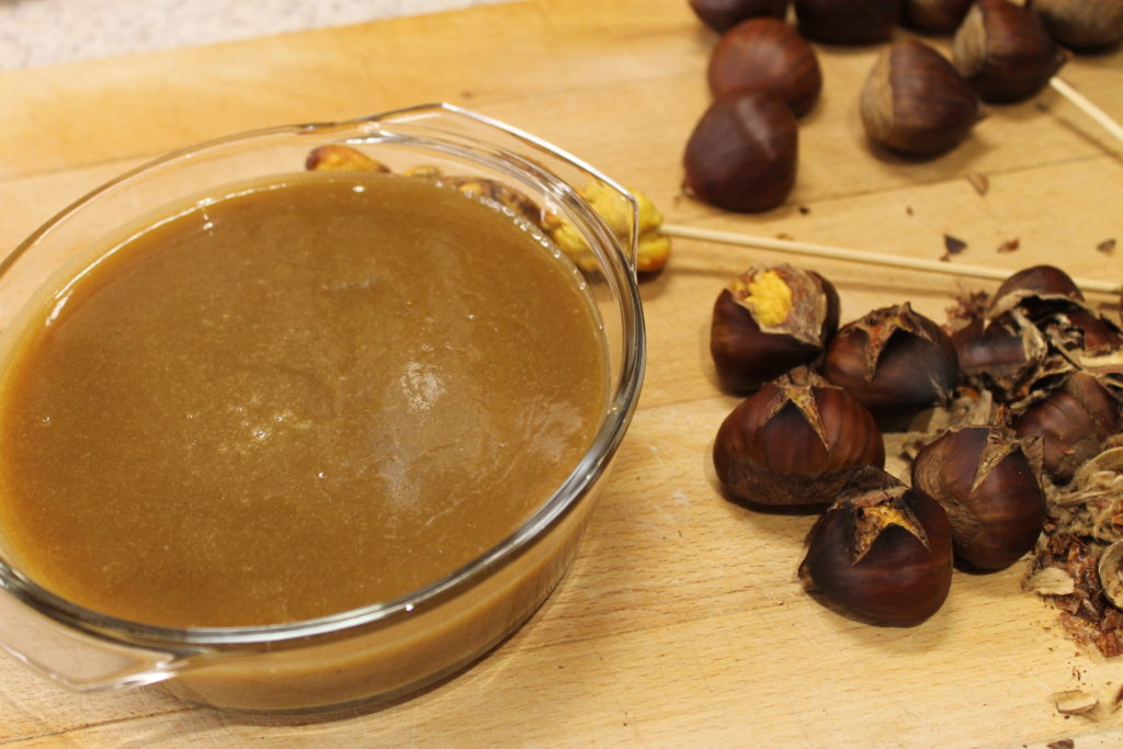 Salted Caramel dip with roasted chestnuts | Immortal Wordsmith