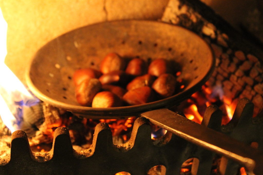 Chestnuts Roasting on an Open Fire Winter Warmer Recipe – Roasted Chestnuts and Salted Caramel Sauce | Immortal Wordsmith