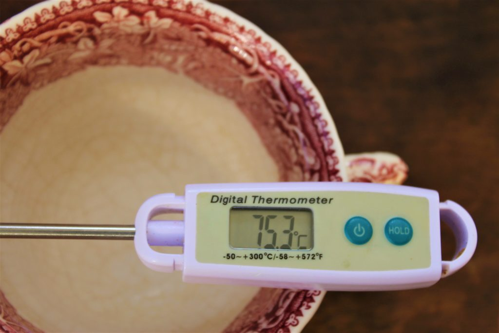thermometer for measuring tea temperature