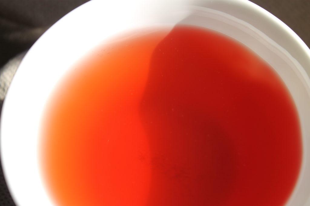 raspberry tea in a teacup