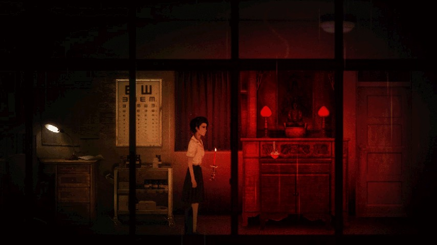 screenshot of Ray, the protagonist of Red Candle Games' Detention