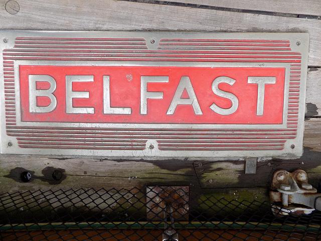 hms belfast sign