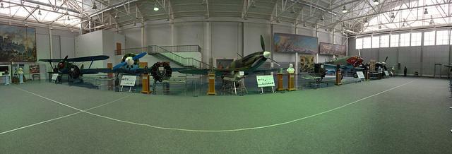 Monino Russia Museum inside a Hangar with World War 2 Aircraft