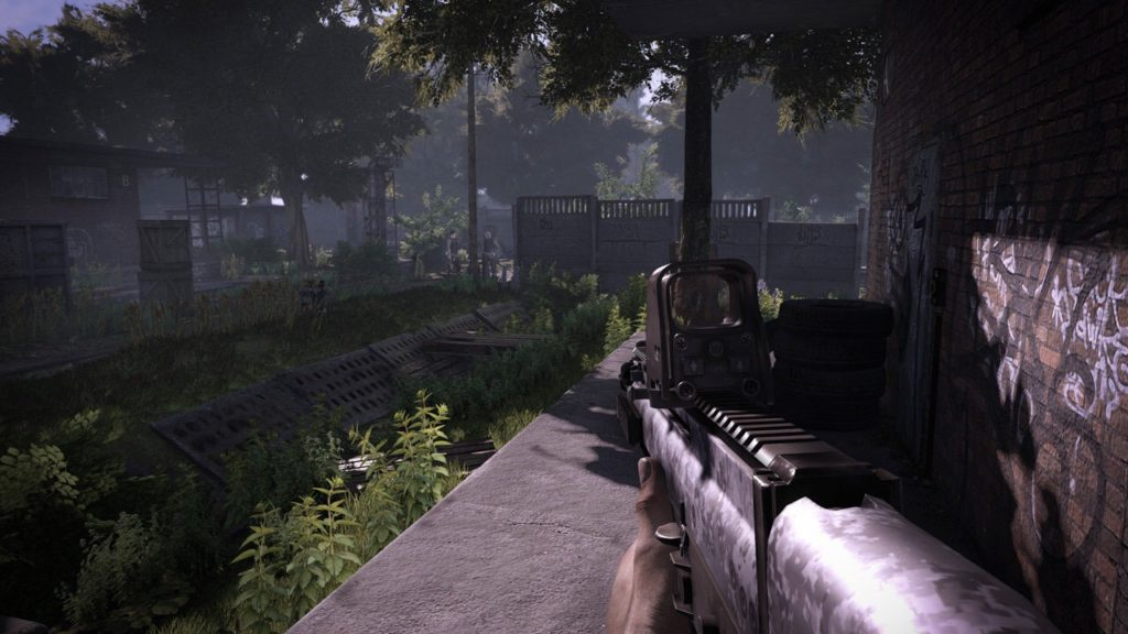 Get Even in game graphics with gun, exploring the world in first person