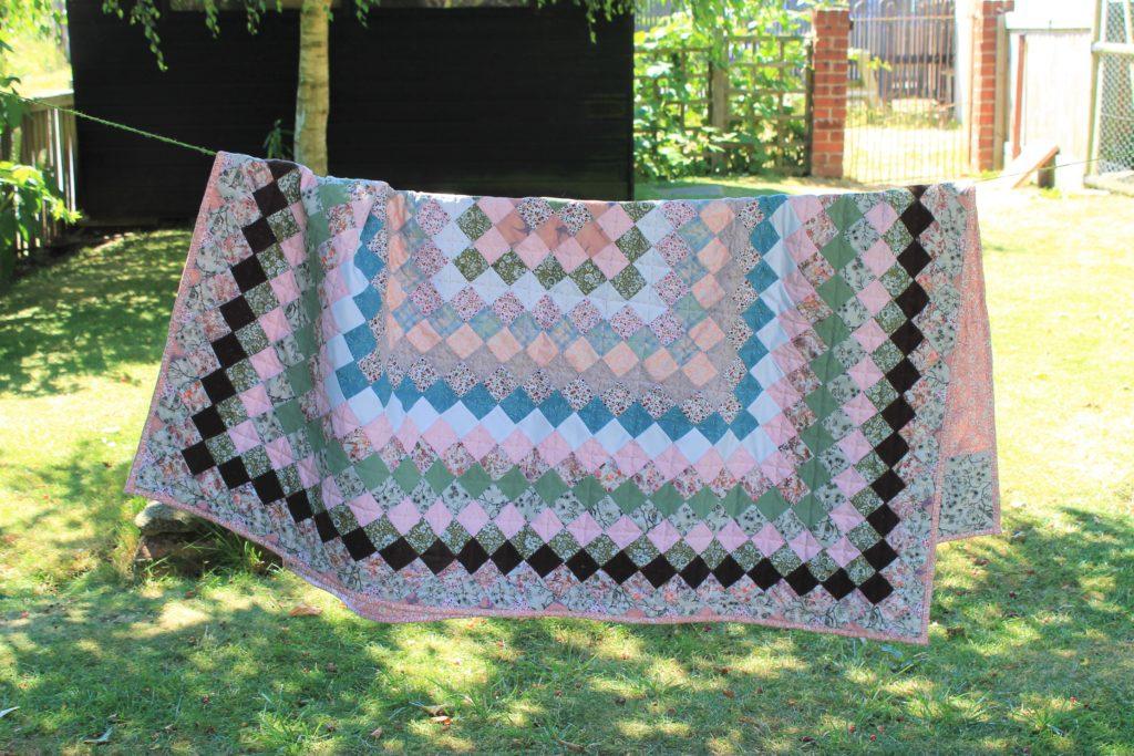 summer pink quilt