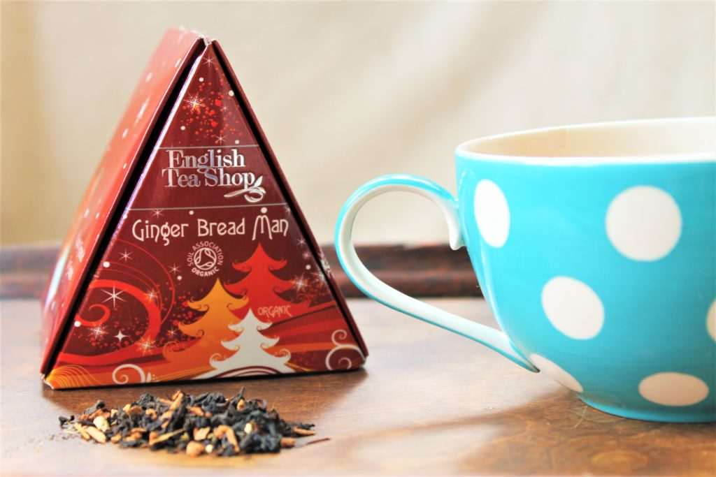 English tea shop ginger tea triangle from the christmas collection