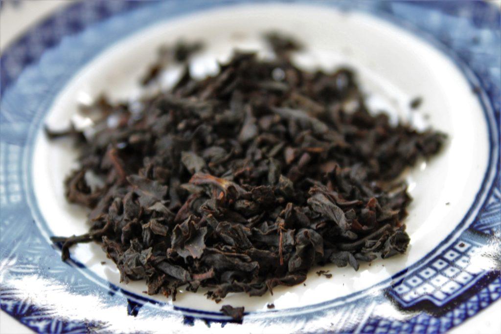 black tea leaves from Zest Earl Grey tea blend