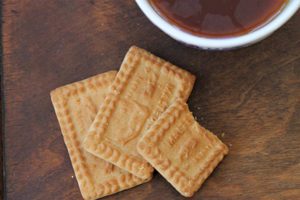 malted milk biscuits and tea