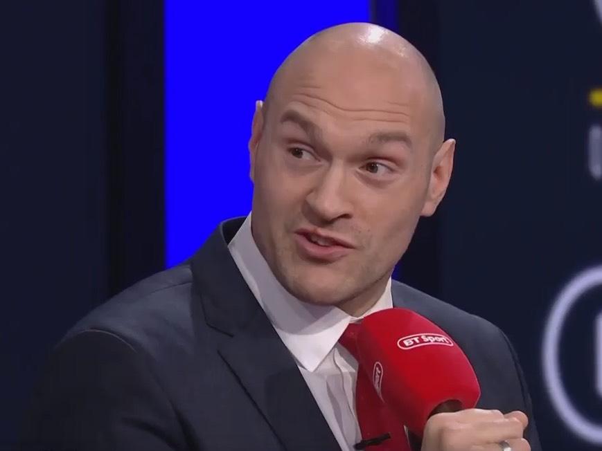 Tyson Fury BT Sport Red Microphone