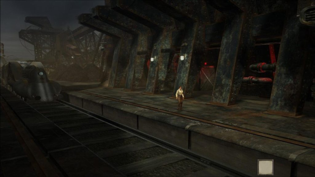 Syberia 3 main character train station