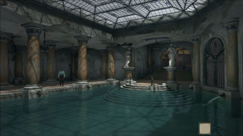 Syberia 3 gameplay swimming pool