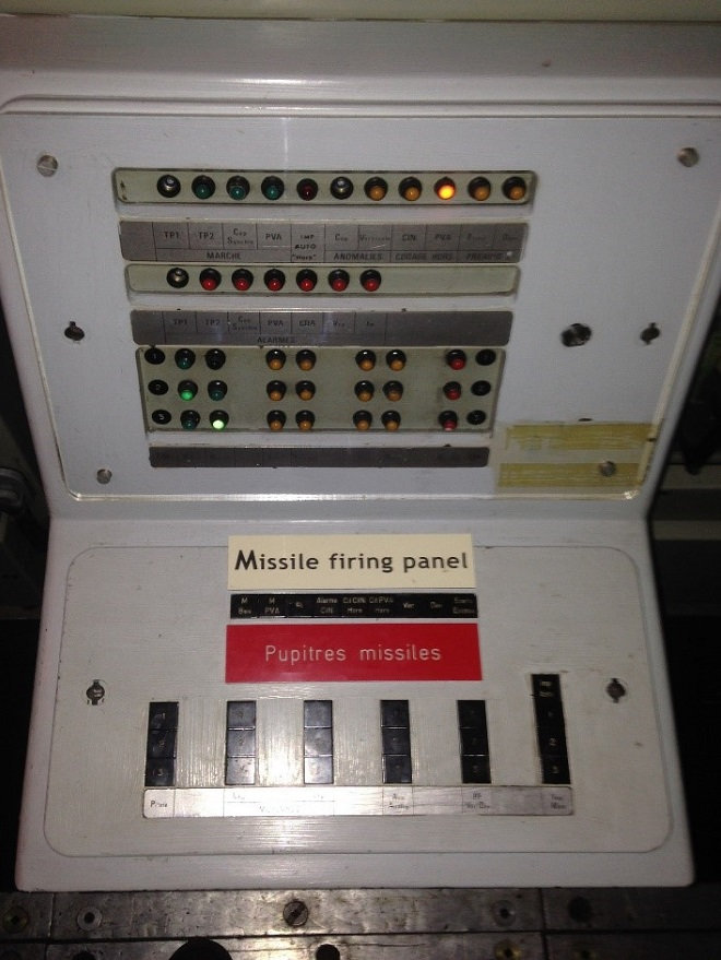 missile firing panel Le Redoutable