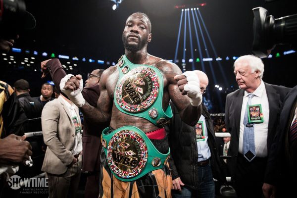 The WBC Boxing Champion Deontay Wilder on Showtime