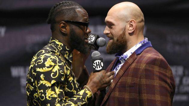 Deontay Wilder and Tyson Fury head to head