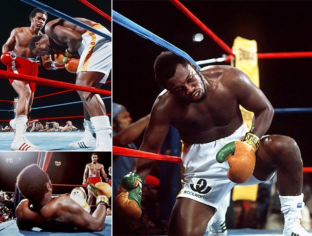 Joe Frazier knocked down multiple times by George Foreman