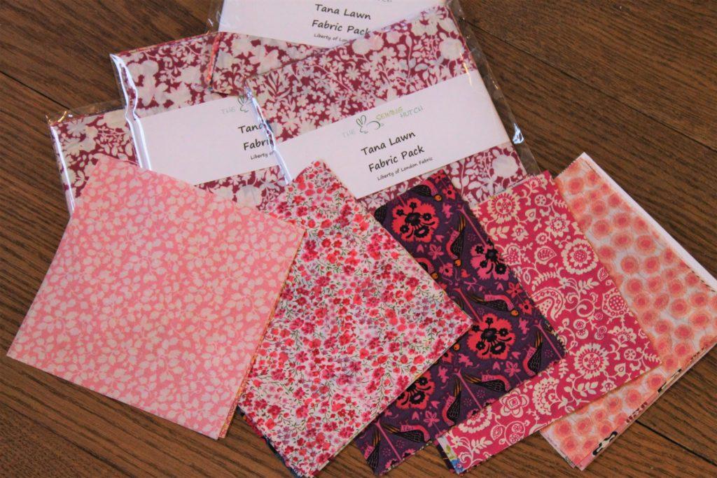 pink tana lawn fabric packs