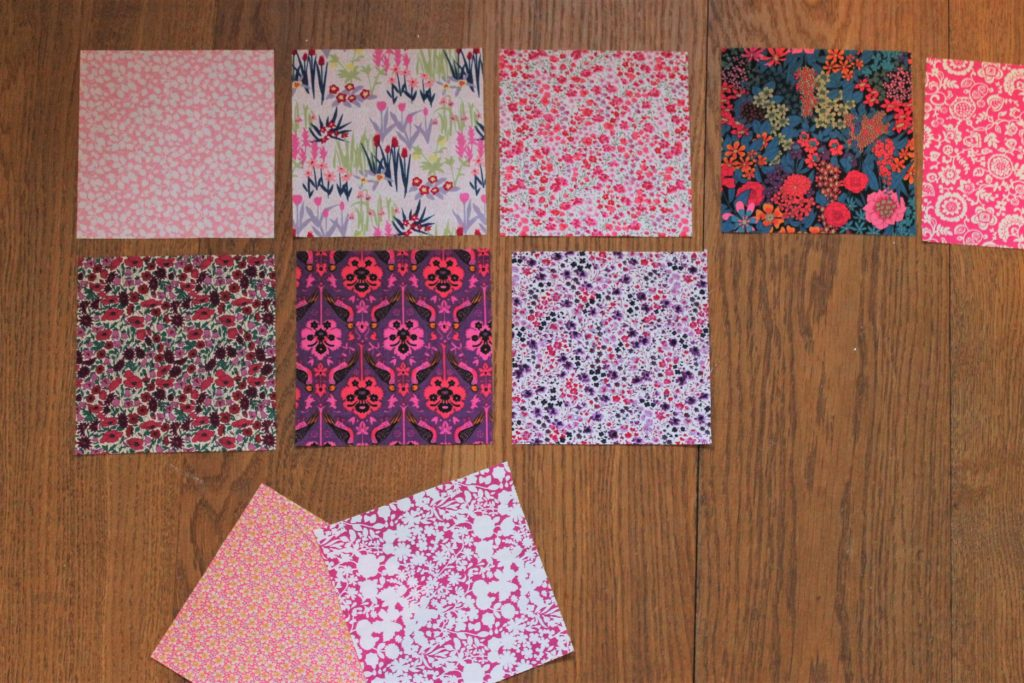 planning quilt fabric arrangement