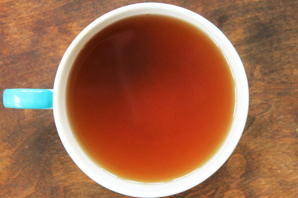 black zest tea in cup