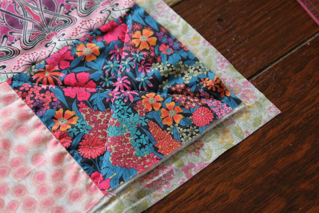 trimmed quilt corner