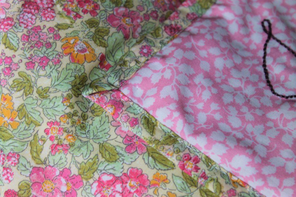 quilt edges sewn down