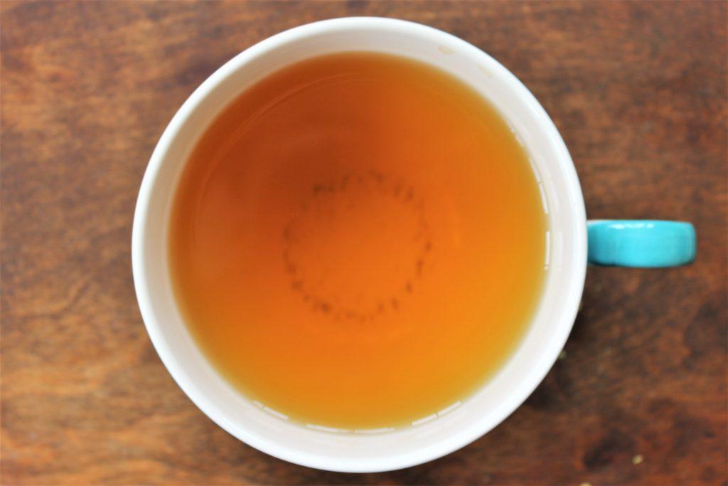 mint green tea in teacup