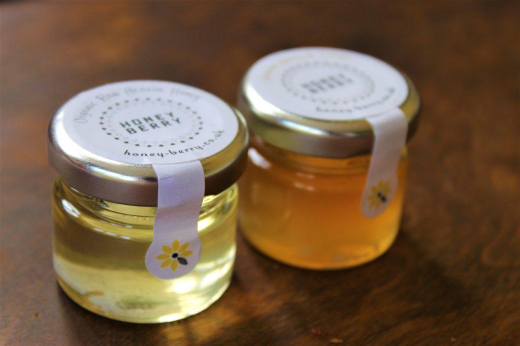 acacia honey pots