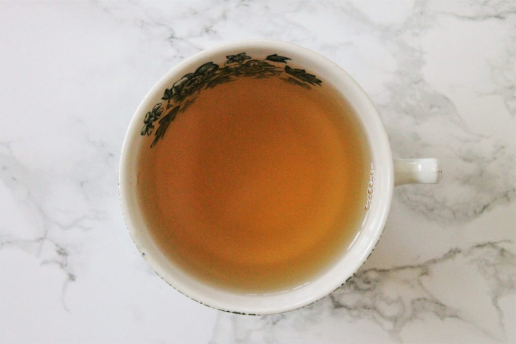green tea in teacup