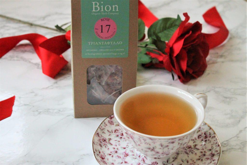 bion organic rose petal tea review