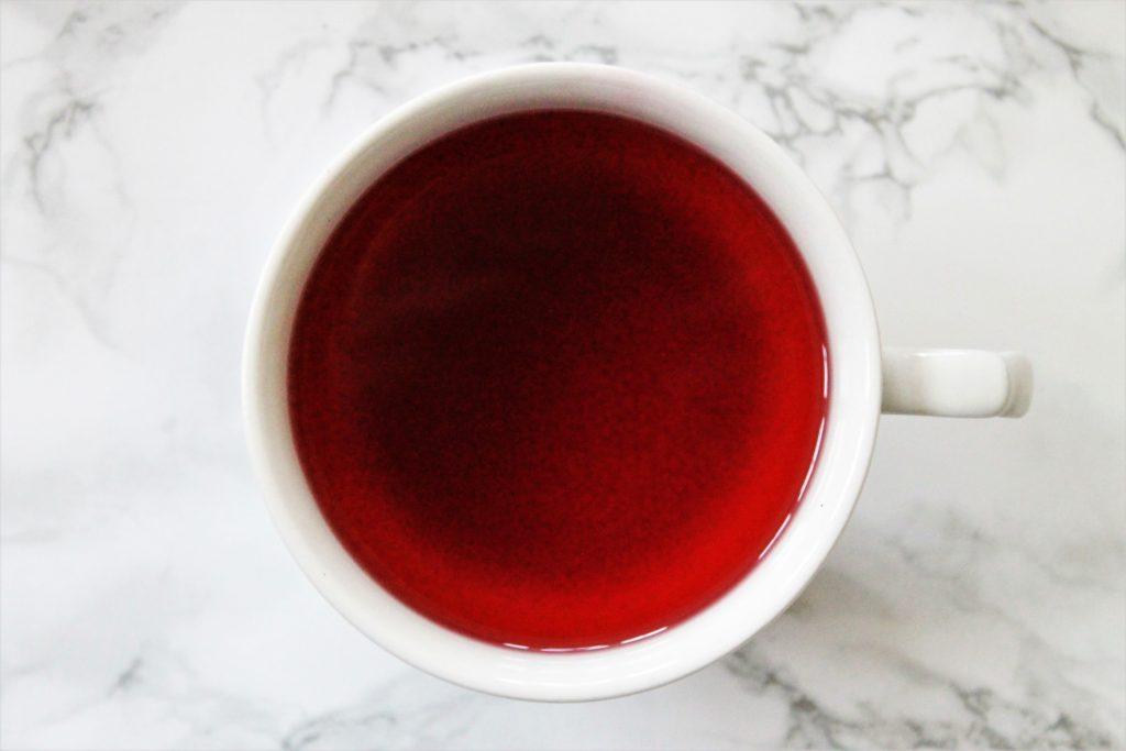 red berry tea in teacup