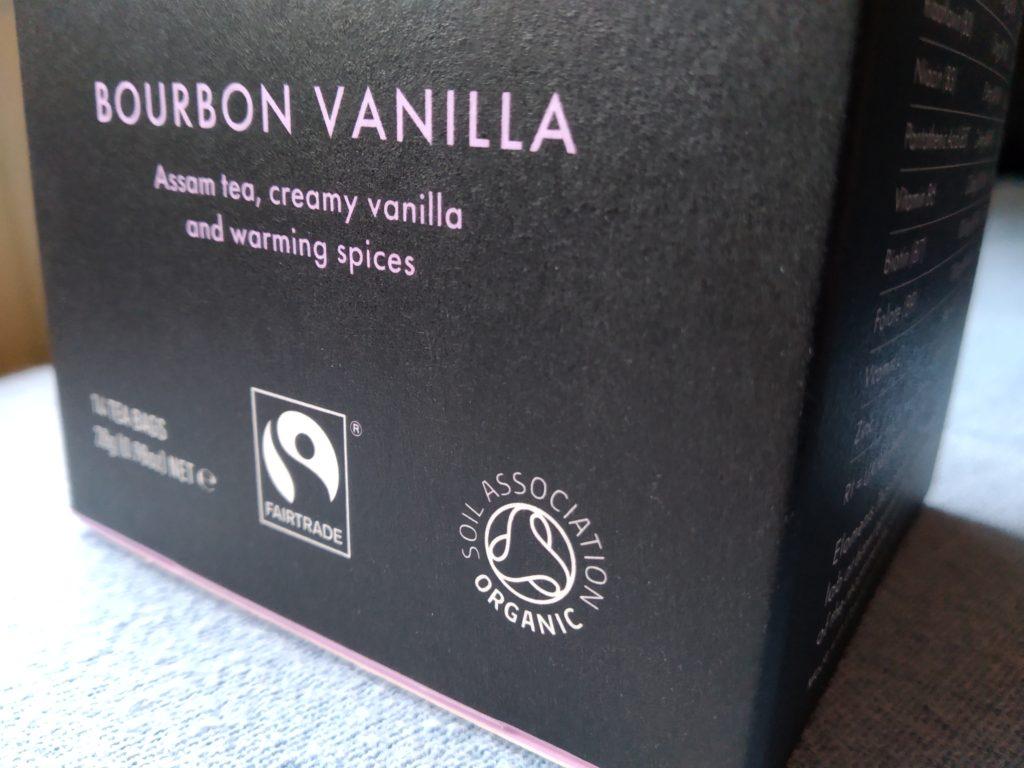 soil association organic symbol on tea box