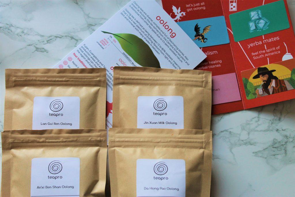 oolong tea samples