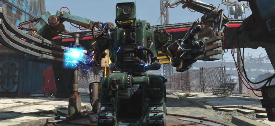 creating robots in fallout 4 video game